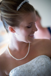 Bridal up-do and make up by Lather, a Raleigh hair salon